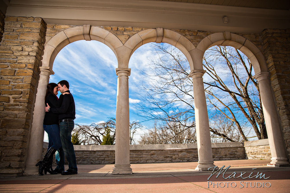 Fun Engagement in Alms Park in Cincinnati