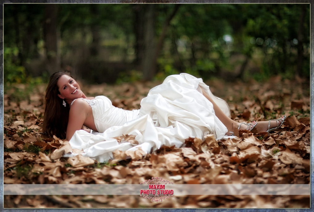 Maxim Photo Studio photographed the trash the dress at Sharon Woods