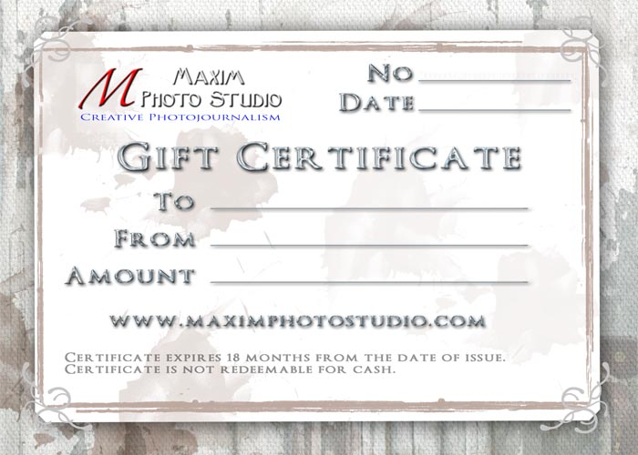 making your own gift certificate