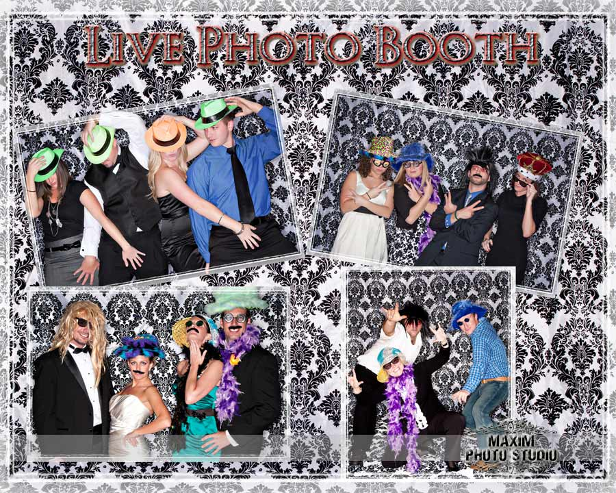 Reception Photobooth by maxim photo studio