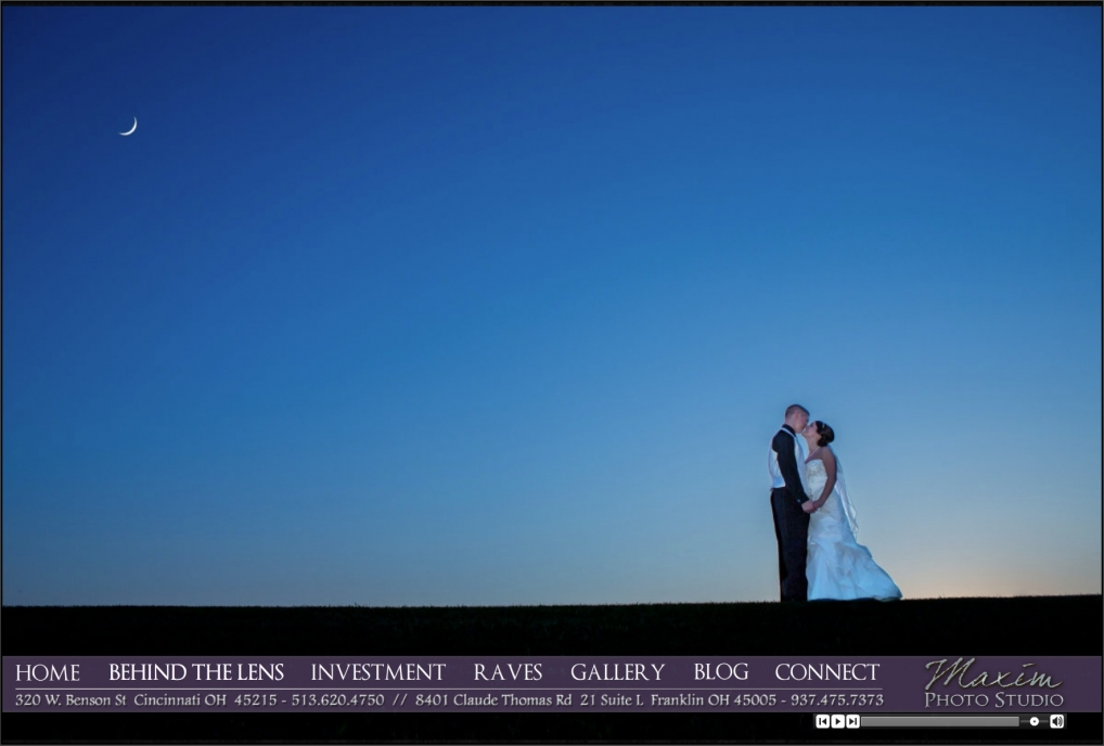 cincinnati wedding photographer webpage