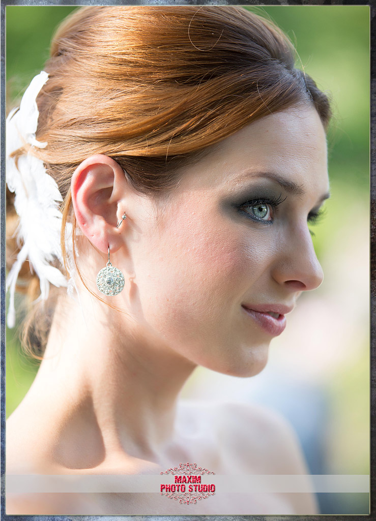 Maxim Photo Studio captured the bride at Ault Park in Cincinnati