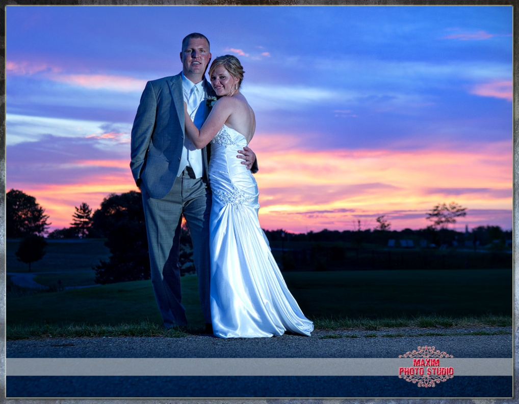 Maxim Photo Studio photographed a wedding photo 2 at Shaker run Golf club in ohio