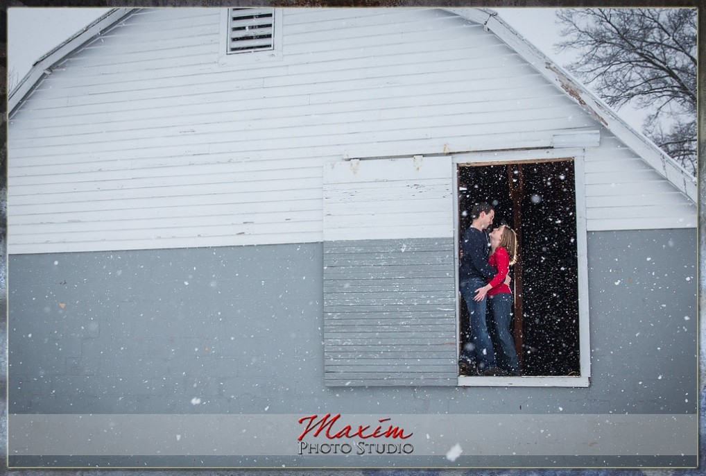snow wedding engagement cincinnati