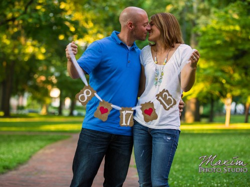 Ohio University Athens wedding engagement photo session