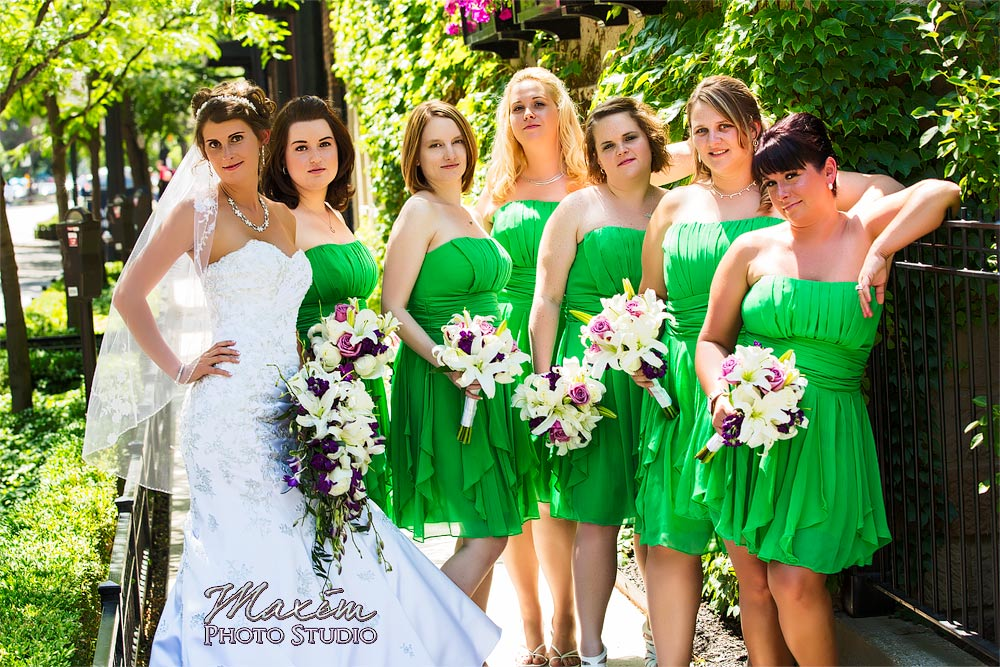 Columbus Athenaeum Wedding bridesmaids